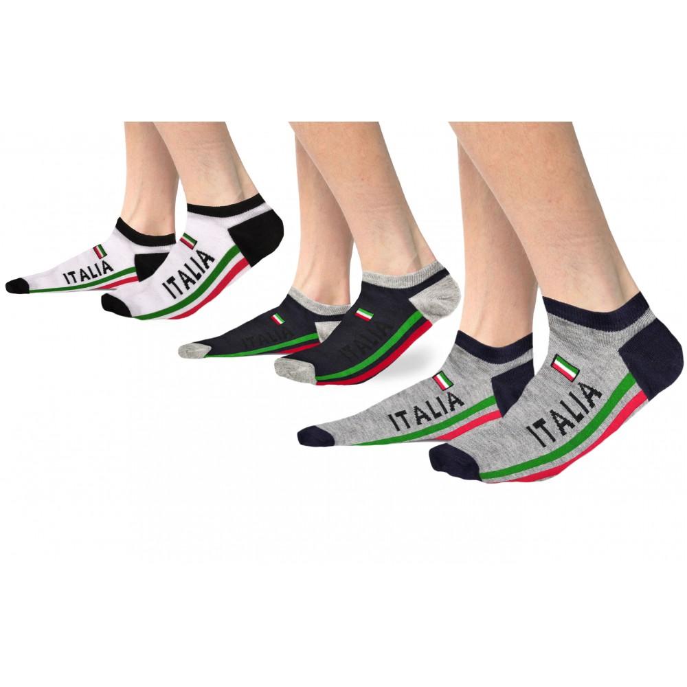 Lucchetti Socks Milano 6 PAIA FANTASMINI uomo cotone FILO DI SCOZIA sotto la caviglia 36 46 bianco nero estivi invisibili BLU made in Italy