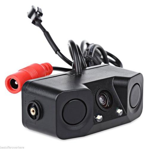 Camera parcheggio posteriore auto targa con 2 led sensore for Camera targa