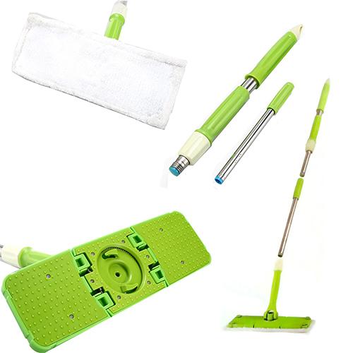 Scopa twist flat mop mocio a torsione con panno microfibra for Scopa h2o recensioni
