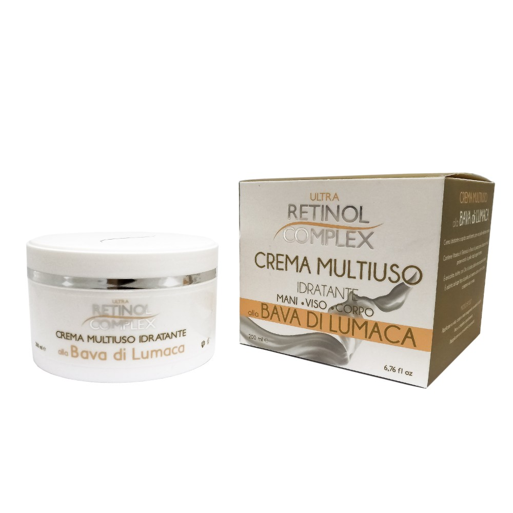 no sale tax buying new stable quality Retinol Complex Crema Multiuso idratante Mani Viso Corpo alla Bava di  Lumaca 200ml