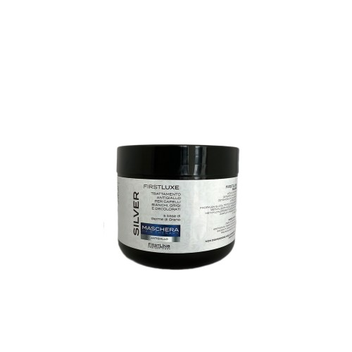 Maschera antigiallo a base di germe di grano SILVER per capelli Ingialliti 500ml FIRSTLINE linea professionale Firstlux 2674