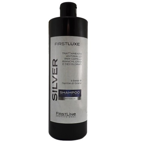 Shampoo antigiallo a base di germe di grano SILVER per capelli Ingialliti 500ml FIRSTLINE linea professionale Firstlux 2667