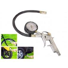 Pistola compressore gonfiaggio pneumatici manometro auto moto bici