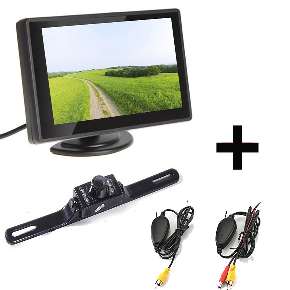 Kit monitor lcd e retrocamera parcheggio zmy 530hd for Camera targa