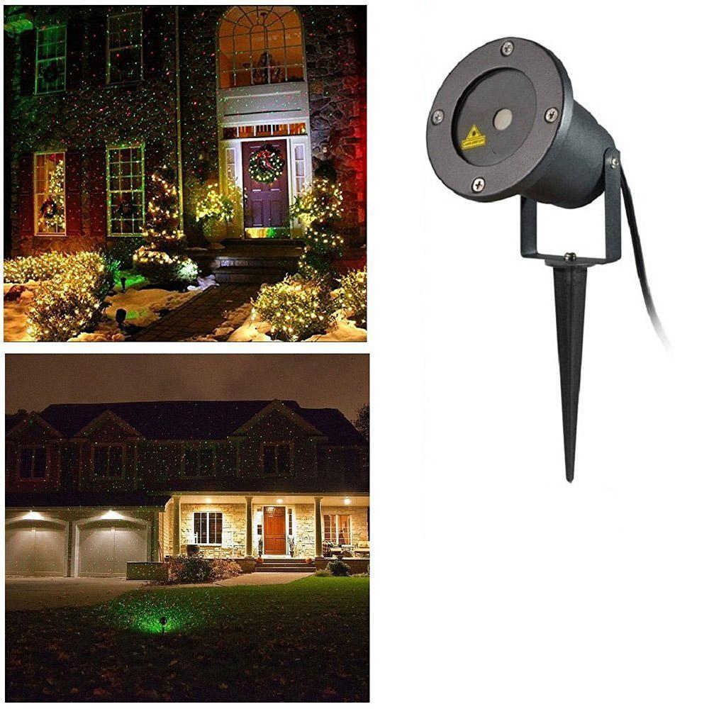 Proiettore laser da esterno giochi di luci automatico for Luci al led per casa