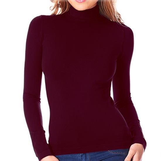 aa89fec79e 3x o 6x maglia collo alto lupetto aderente maniche lunghe leggermente  felpato colori assortiti LC6567B