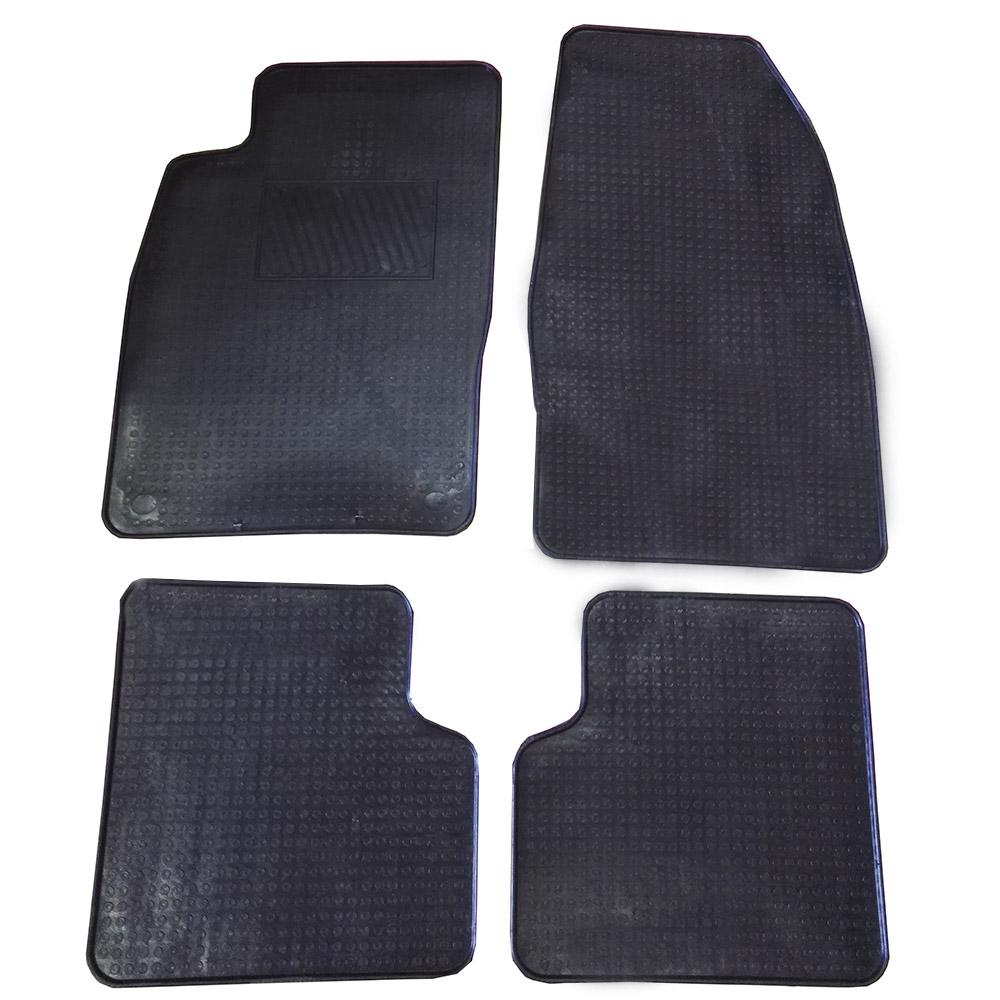 4 pezzi neri in gomma tappetino per Opel Adam anno fabbricazione 2013
