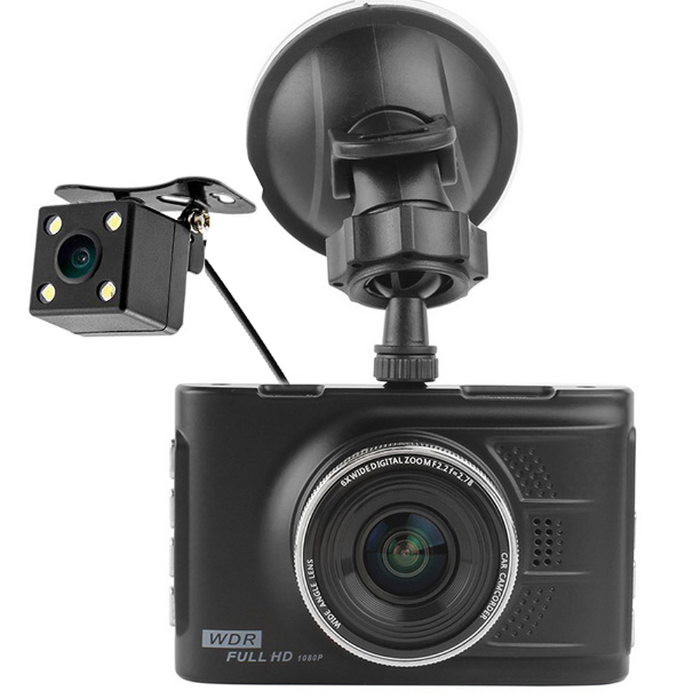 Kit dual lens dvr doppia telecamera per auto targa for Camera targa