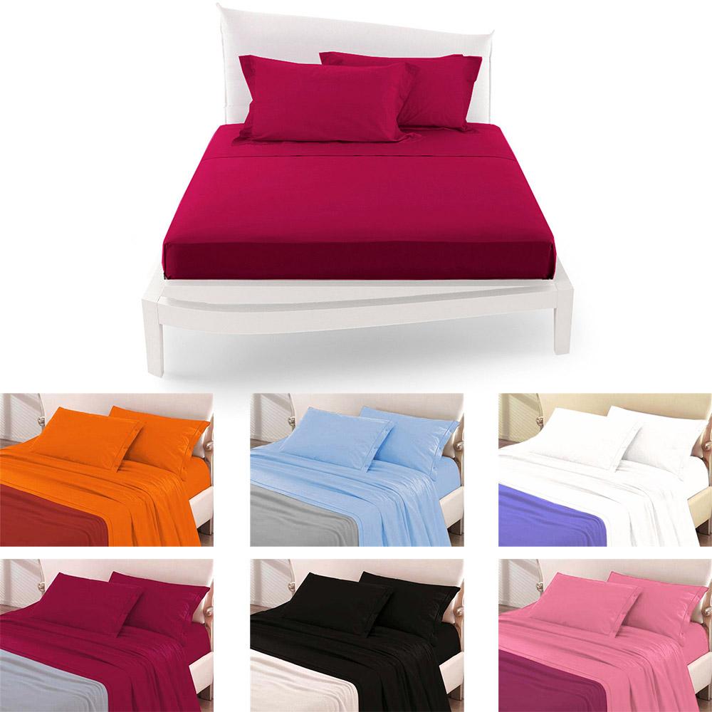 Completo da letto matrimoniale tinta unita 2 lenzuola coordinato copricuscini ebay - Completo letto matrimoniale ...
