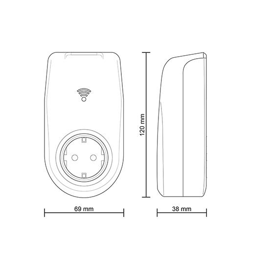 presa smart socket intelligente wifi wireless 230v 50hz