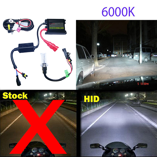 6000K PER MOTO MOTOCICLETTA FARO 35W 12V KIT LAMPADINA HID XENON H6M H4 BA20D
