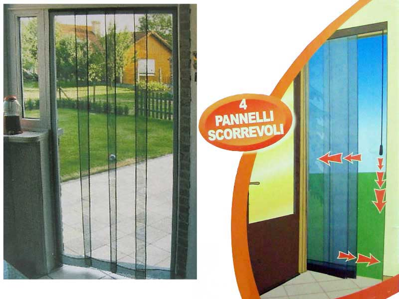 Tenda zanzariera per finestra porte 4 pannelli scorrevoli - Amazon zanzariere per finestre ...