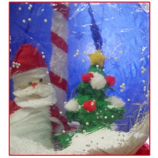 Babbo natale gonfiabile e albero in bolla con neve 45cm for Albero natale gonfiabile
