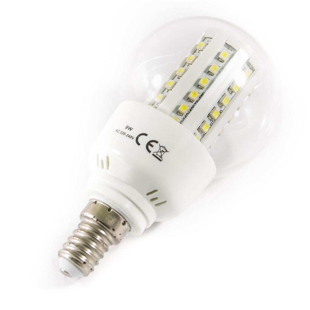 lampadina led con 60smd e14 9w lunga durata luce calda e