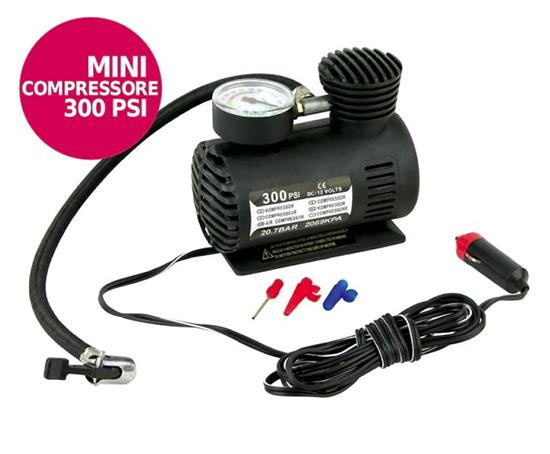 Mini compressore 12v 300psi per auto gonfiatore ruote for Mini compressore portatile per auto moto bici 12v professionale accendisigari