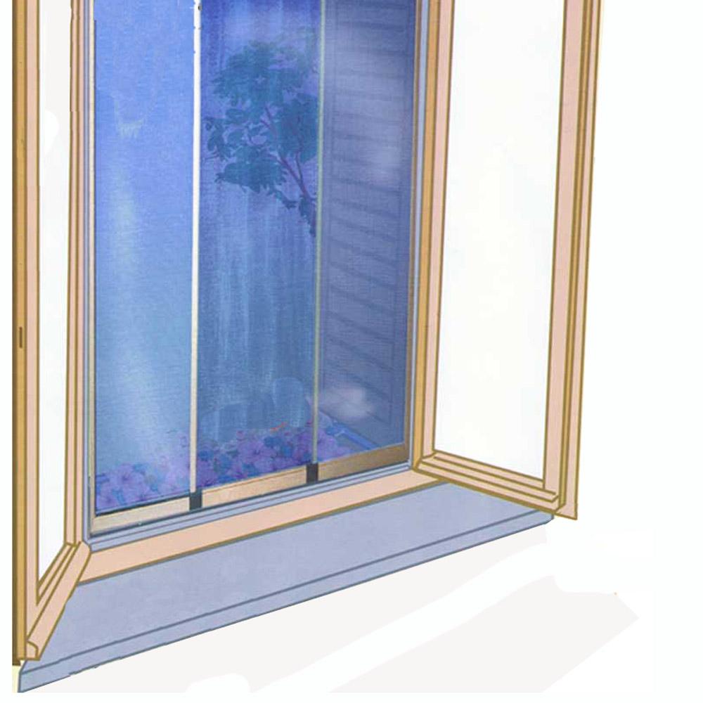 Zanzariera reversibile estensibile per finestra verticale for Finestra scorrevole verticale